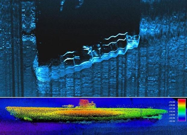 U-boat 576 foi localizado na região do Cabo Hatteras, na Carolina do Norte (Foto: NOAA)