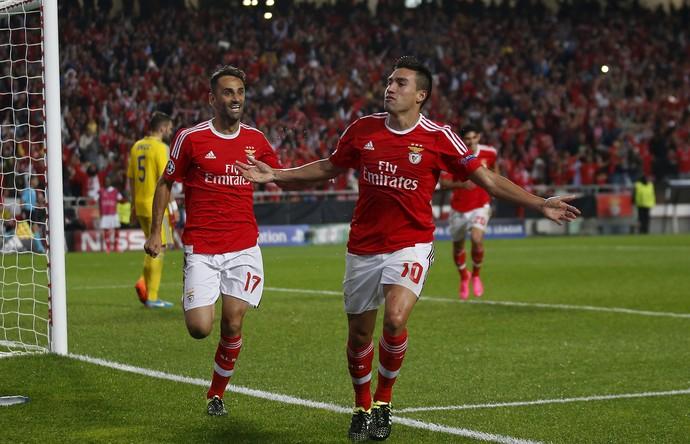 Gaitan Benfica Astana (Foto: Reuters)