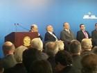 Em cerimônia no Planalto, Skaf diz que impostos não podem subir
