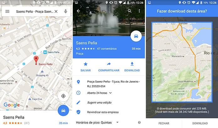 Google Maps introduziu download de mapas para navegação offline (Foto: Reprodução/Elson de Souza)