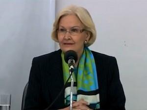 Candidata Ana Amélia Lemos (Foto: Reprodução/RBS TV)