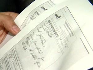 Atestado médico tem regras para ser aceito (Foto: Reprodução / EPTV)
