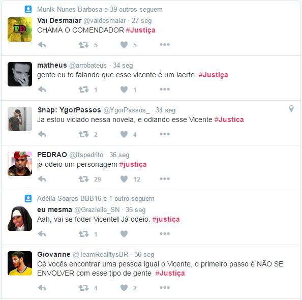 Estreia de Justiça vira meme no Twitter (Foto: Reprodução/Twitter)
