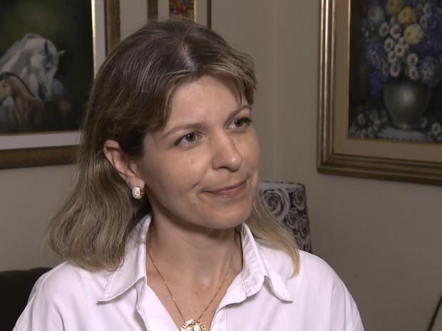 Daniele Ziober (PPS) é a única mulher eleita para a Câmara Municipal de Londrina, no norte do Paraná (Foto: Reprodução/RPC)