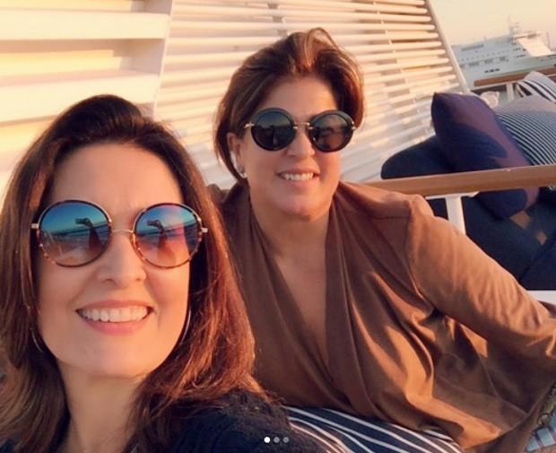 Fátima Bernardes e amiga (Foto: Reprodução/Instagram)