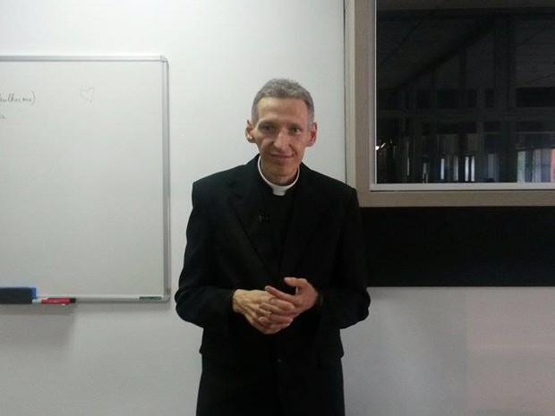Padre Marcelo Rossi visita a TV Mirante (Foto: Márcia Carlile/G1 MA)