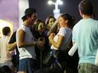 Bruna Marquezine se diverte com amigos no Rock in Rio