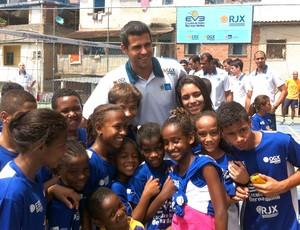 ante no projeto social da equipe do Rio de Janeiro (Foto: Leandro Garrido / Globoesporte.com)