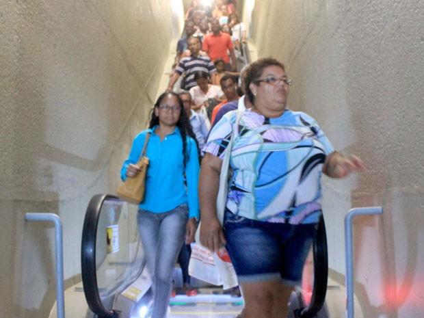Cinco escadas rolantes foram liberdas na Estação da Lapa (Foto: Divulgação / Prefeitura)