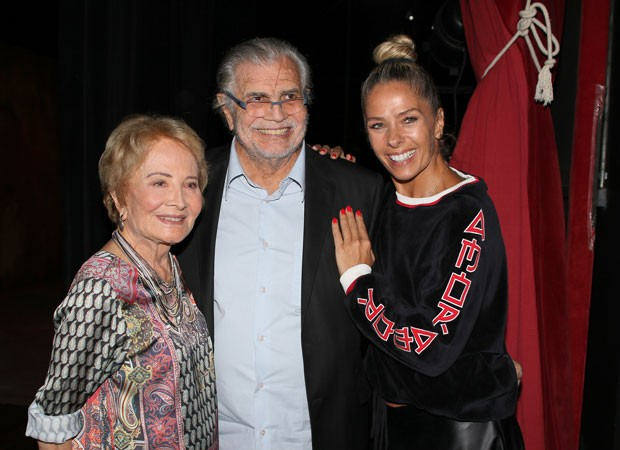 Glória Menezes, Tarcísio Meira e Adriane Galisteu (Foto: Thiago Duran/AgNews)
