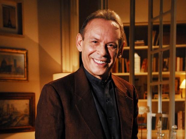 Em Três Irmãs, José Wilker interpretou Augusto, um boêmio sonhador, em 2008 (Foto: João Miguel Júnior / TV Globo)