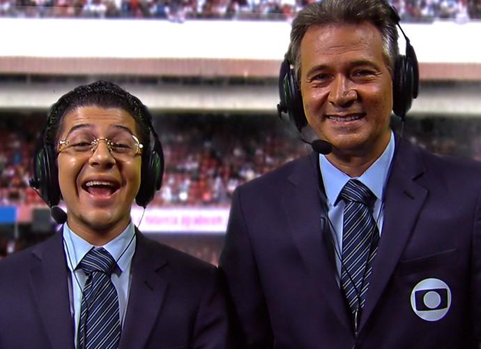Comentarista esportivo comete gafe no Zorra (Foto: TV Globo)