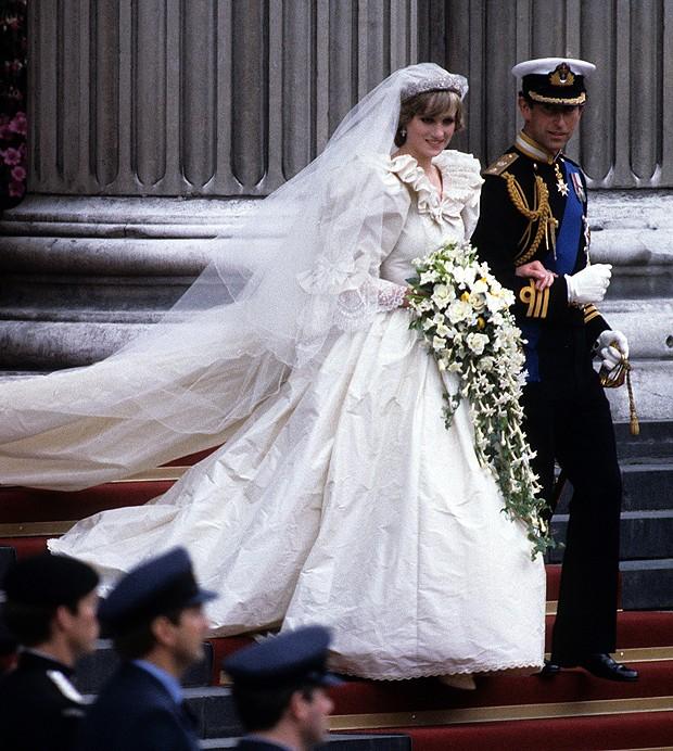 Lady Di em seu casamento (Foto: Getty Images)