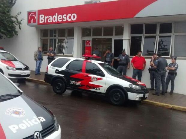 Quadrilha entrou em agência bancária em Tabatinga (Foto: Luiz Henrique de Andrade / Arquivo Pessoal)