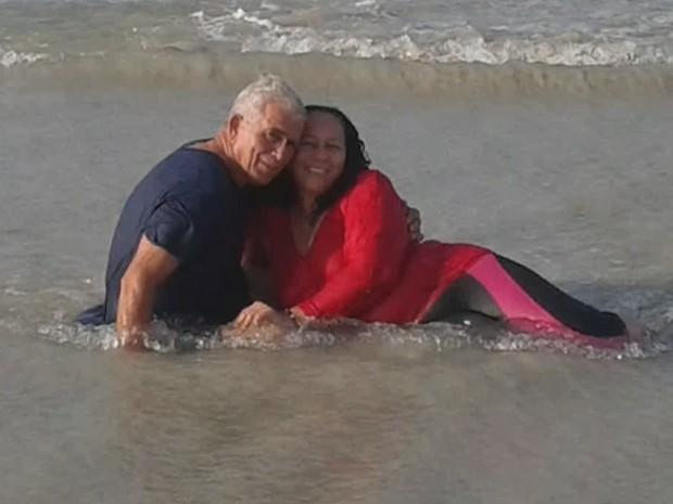 Casal Baltazar Eurípedes e Maria do Socorro Feitosa morreram no acidente (Foto: Reprodução/Rede Amazônica)