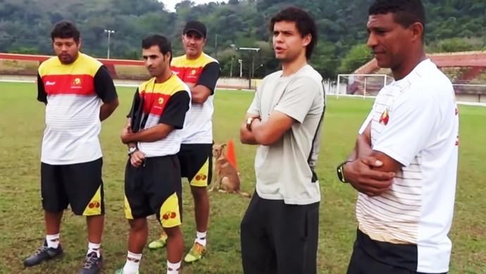 Victor Ferraz, treino do Jabaquara (Foto: Reprodução / Jabuca TV)