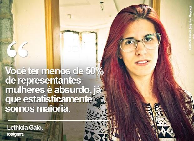 Lethicia Galo, fotógrafa de Mogi das Cruzes (Foto: Lethicia Galo/ Arquivo Pessoal)