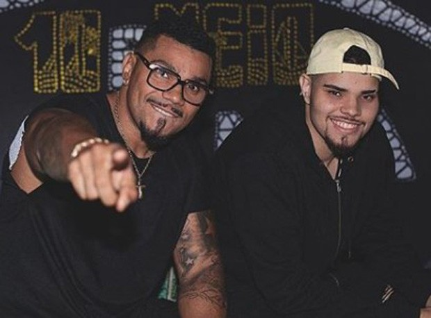 Naldo e o filho, MC PJ (Foto: Reprodução/Instagram)
