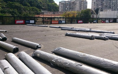 Obra campo General Severiano Botafogo  (Foto: Globoesporte.com)