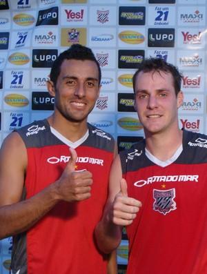 Cleberson e Diego Marangon - Paulista de Jundiaí (Foto: Divulgação / Paulista FC)