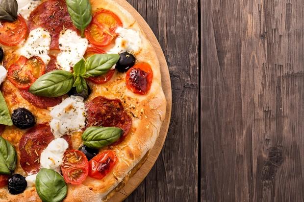Pizza de frango light (Foto: Divulgação)