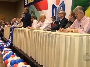 Convenção ocorreu na segunda (30) em Florianópolis (Foto: Reprodução RBS TV)