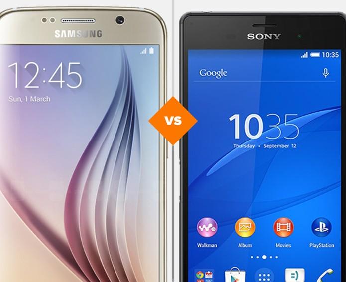 Comparativo Galaxy S6 e Sony Xperia Z3 (Foto: Arte: TechTudo)