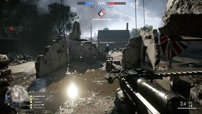 Multiplayer de Battlefield 1 no PS4 Pro (Foto: Reprodução/Victor Teixeira)