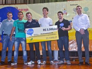 Chuva que se torna energia: essa foi proposta que levou o 2º lugar da competição. (Foto: Universitec/ Manoel Neto)