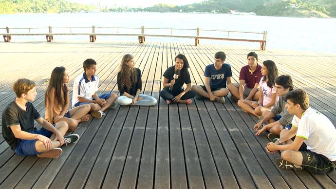 Meninos e meninas debateram até o futuro do país (Foto: Divulgação / TV Gazeta ES)