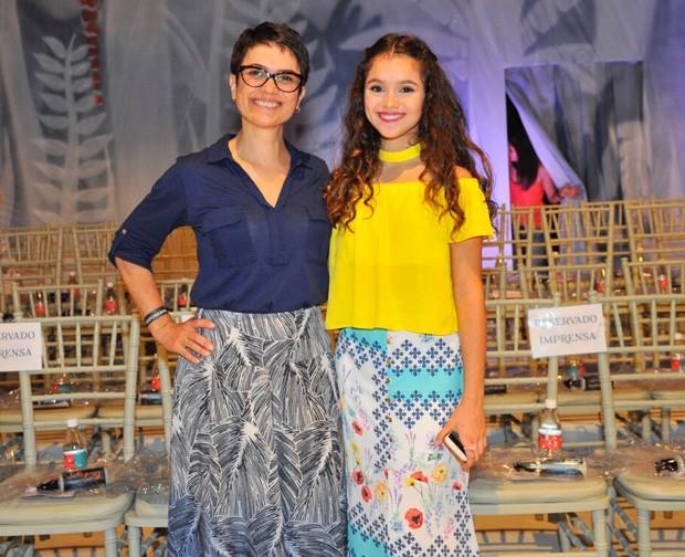 Sandra Annenberg e a filha, Elisa Paglia (Foto: Samuel Chaves/Brazil News)