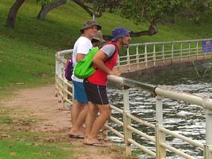 Turistas em Alter do Chão (Foto: Reprodução/TV Tapajós)