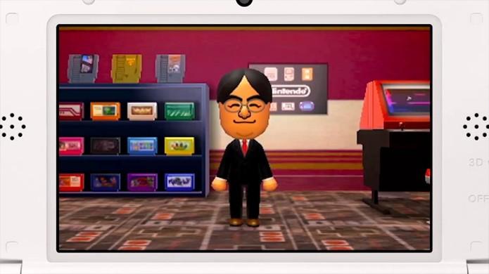 Um avatar do Presidente Satoru Iwata participa do game Tomodachi Life para Nintendo 3DS (Foto: Reprodução/Tiny Cartridge)