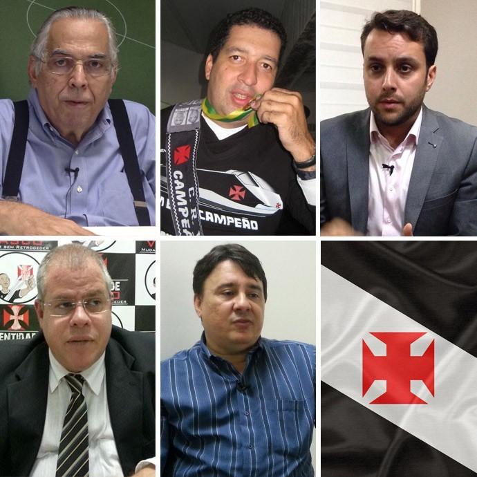 montagem eleições vasco (Foto: GloboEsporte.com)