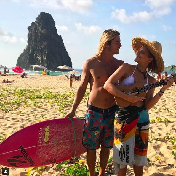 Isabella Santoni e Caio Vaz (Foto: reprodução/Instagram)