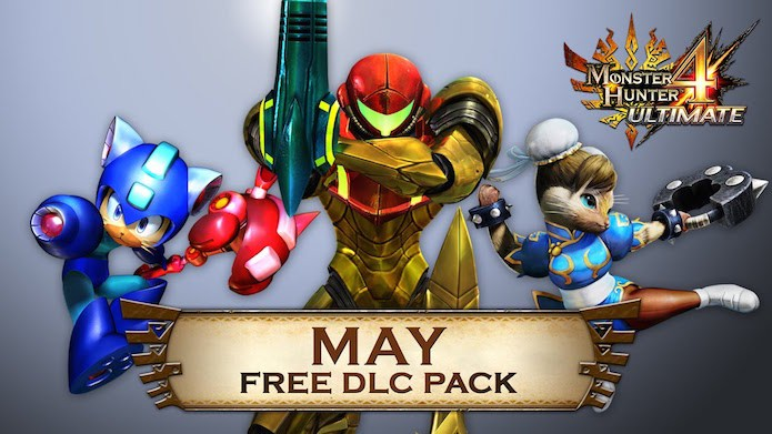 Monster Hunter 4: DLC gratuito adiciona personagens de Mega Man e Street Fighter (Foto: Divulgação)