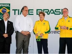 A presidente Dilma Rousseff durante as comemorações do Dia Olímpico, no Rio de Janeiro (Foto: Roberto Stuckert Filho/PR)