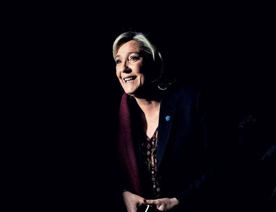 Marine Le Pen,a candidata da frente Nacional,na França (Foto:   JEFF PACHOUD/AFP)
