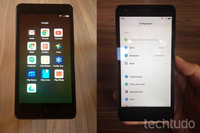 Redmi 2 vem com o sistema operacional MIUI 6, baseado no Android 4.4 (Kitkat) (Foto: Laura Martins/TechTudo)