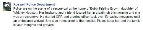 Roswell Police Department (Foto: Reprodução / Facebook)