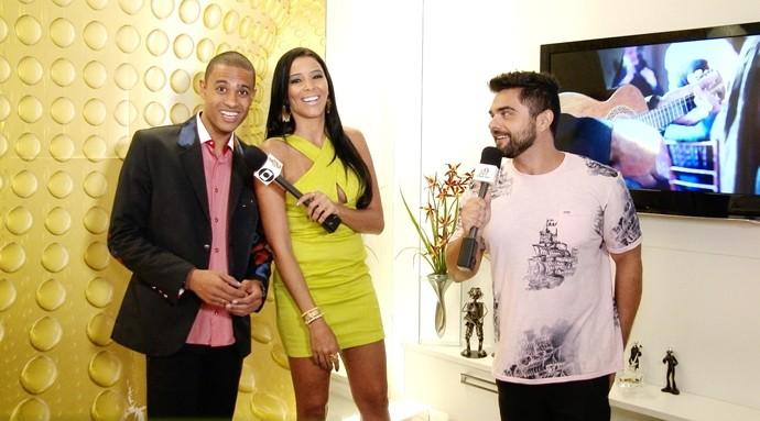 Rommero Ribeiro revela sobre como surgiu o convite para ser vocalista do Exaltasamba. (Foto: Produção / Se Liga VM)
