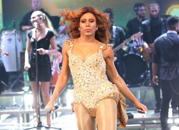1ª apresentação: Ícaro como Beyoncé (Foto: Divulgação/TV Globo)
