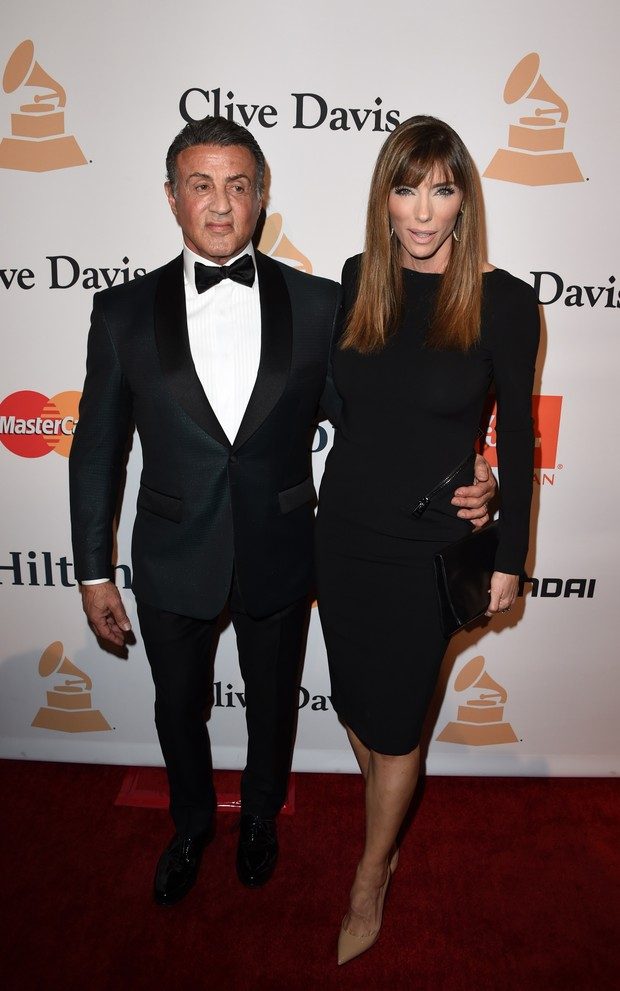 Sylvester Stallone e Jennifer Flavin (Foto:  Mark Ralston/AFP)