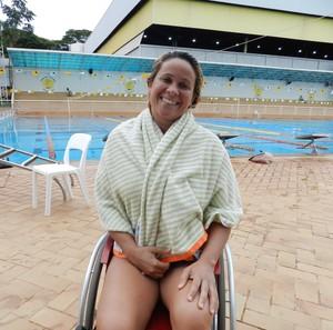 Verônica Almeida, nadadora paralímpica do Praia Clube em Uberlândia (Foto: Caroline Aleixo/G1)