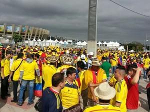 torcida Colômbia Mineirão (Foto: Raphael Zarko/Globoesporte.com)