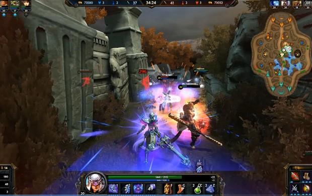 'Smite' é game online do gênero de 'League of Legends', mas com visão em terceira pessoa (Foto: Divulgação/Hi-Rez Studios)
