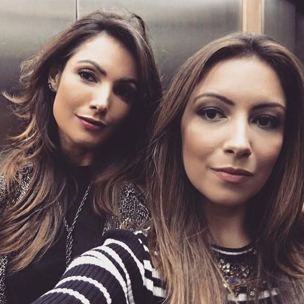Patrícia Poeta e a irmã, Paloma Poeta (Foto: Reprodução/Instagram)