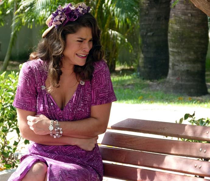 Diana fica arrasada! (Foto: Guilherme Sousa/Gshow)