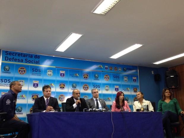 Coletiva da SDS-PE sobre caso Morato (Foto: Bruno Marinho/G1)