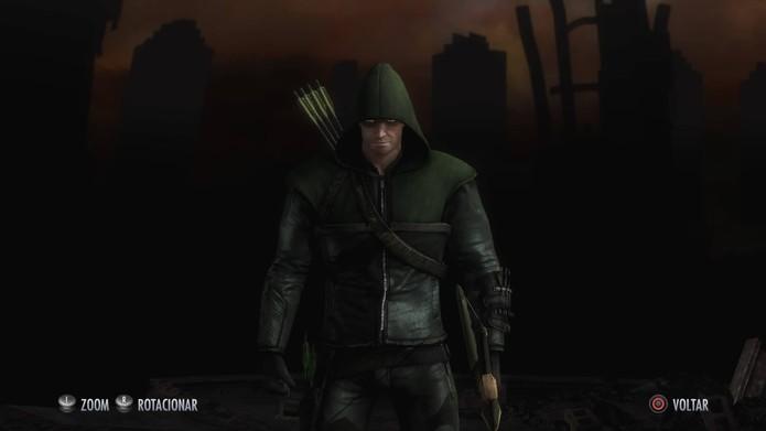 Arrow em Injustice (Foto: Reprodução/Felipe Vinha)